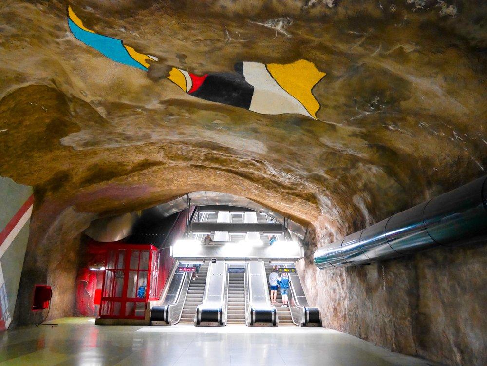 Kungsträdgården metro station on the blue line
