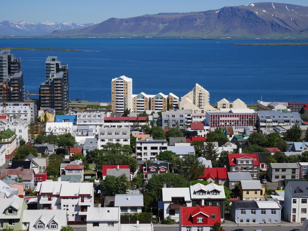 View taken from the Halligrmskirkja Church in Reykjaviík