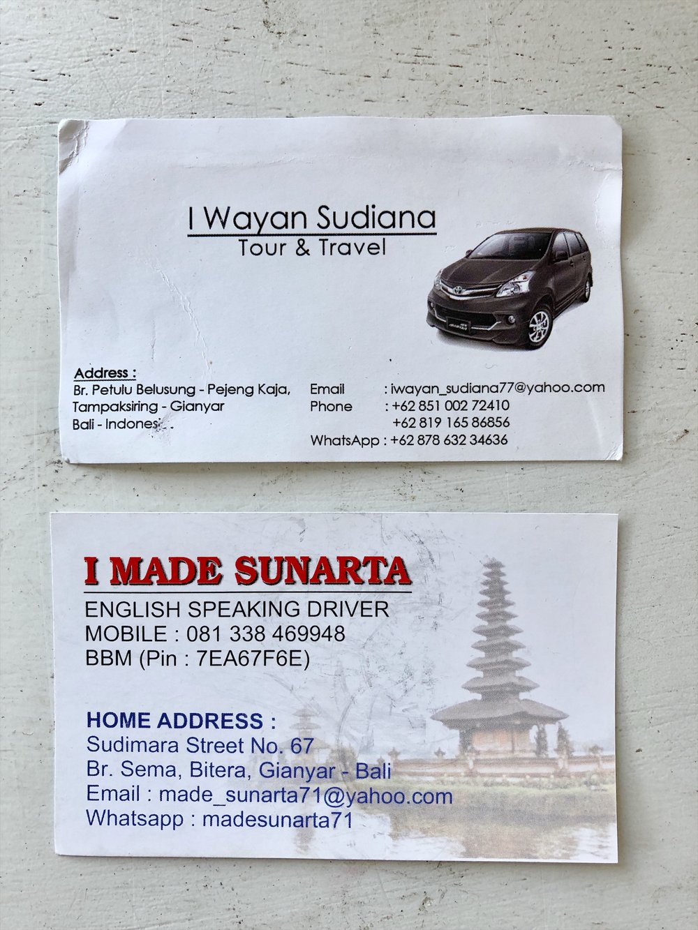 reliable English speaking drivers in Ubud