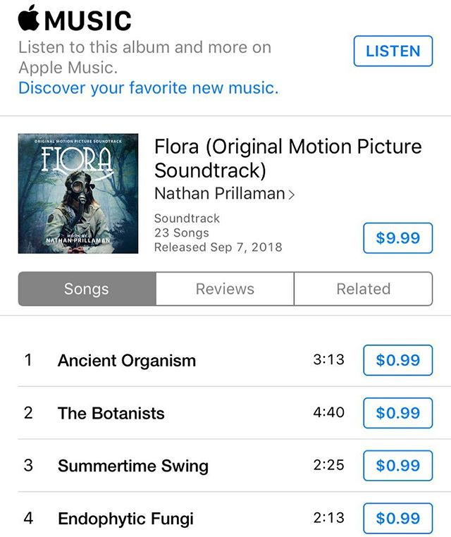 The wait is over Flora fans! You can now download Nathan Prillaman's award-winning original score! Available now on iTunes, Spotify and Amazon music! Enjoy 🌿