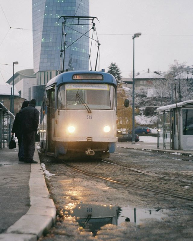 Sarajevo is a very beautiful place with a rough history. Like many countries in former Yugoslavia traces of war can still be seen. During the siege of Sarajevo many people died in these trams as they were shot at by snipers in the mountains.