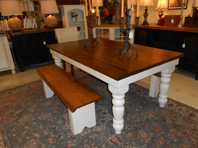 3.5u0027 X 6u0027 Thick Top Farm Table.JPG