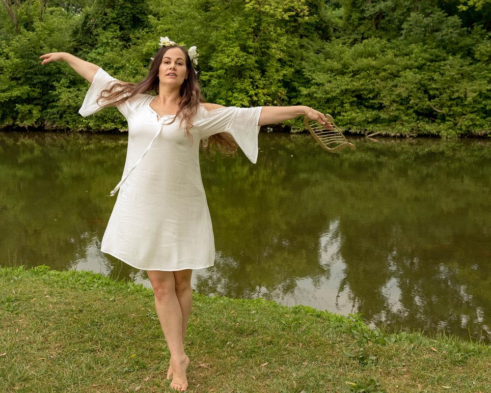 Terpsicore - goddess of dance (by Lisa Irvine)