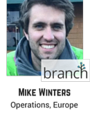 Mike Winters, Operations, Europe, Branch Metrics