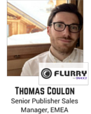 Thomas Coulon, Senior Publisher Sales Manager EMEA, Yahoo Flurry