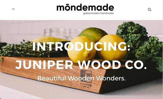 We're thrilled to be a featured shop on @themondemade today. Check out this interview to learn a little more about what makes us tick! #jwco **link in bio**