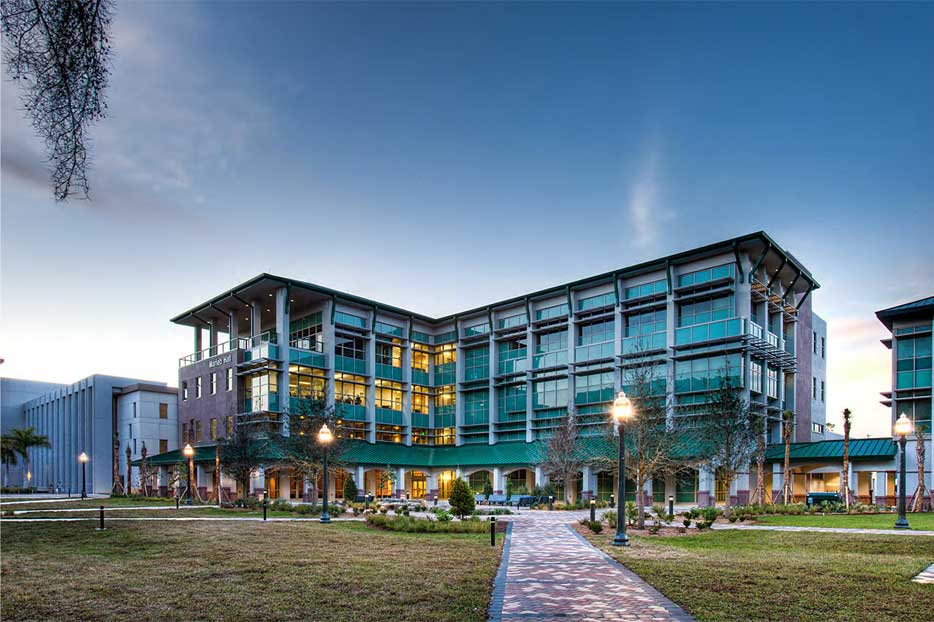 FGCU COLLEGE OF HEALTH PROFESSIONALS Fort Myers, FL | Florida Gulf Coast University Harvard Jolly Architecture