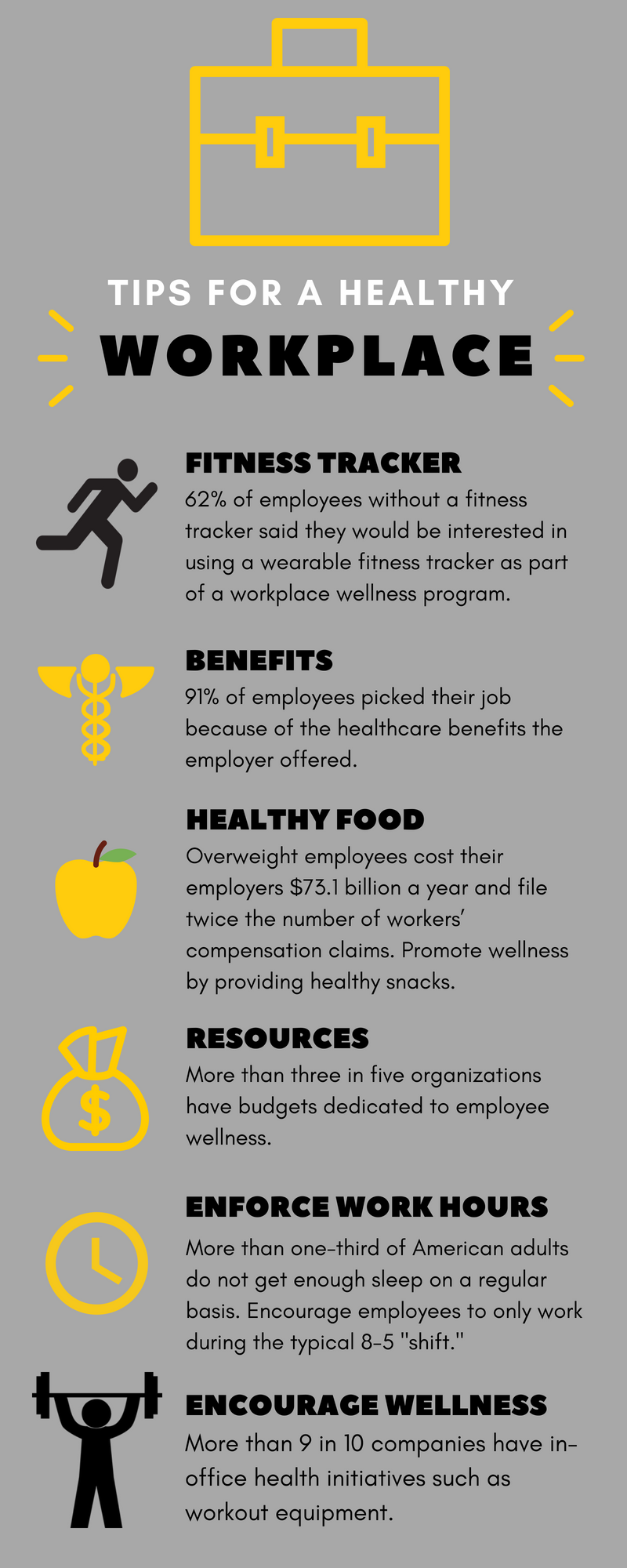 workplace health infographic