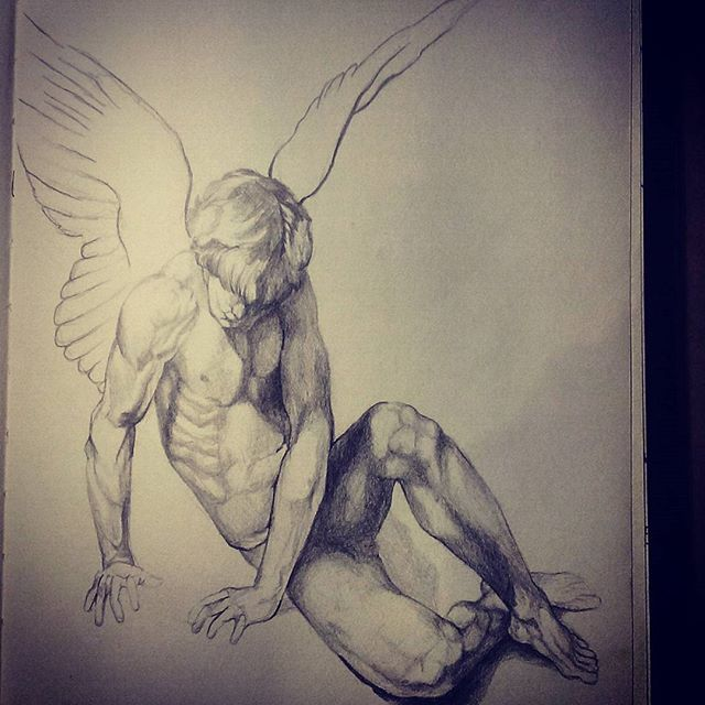 More angels to draw maybe future prints #male #angel #drawing #art