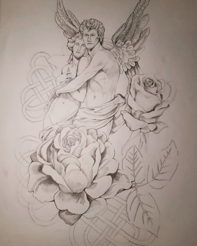 Let it be ...a drawing #drawing #draw #sketch #roses #artsy #artproject #art #sculptures#angel #graphicdesign