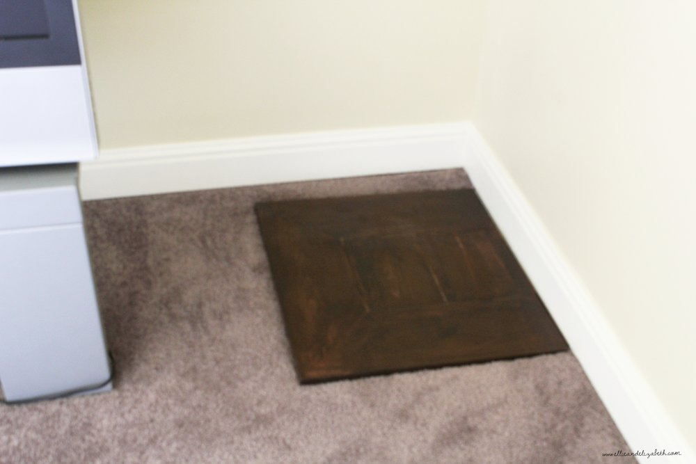 Trapdoor in guest room.  Fun times unless you're the guest...