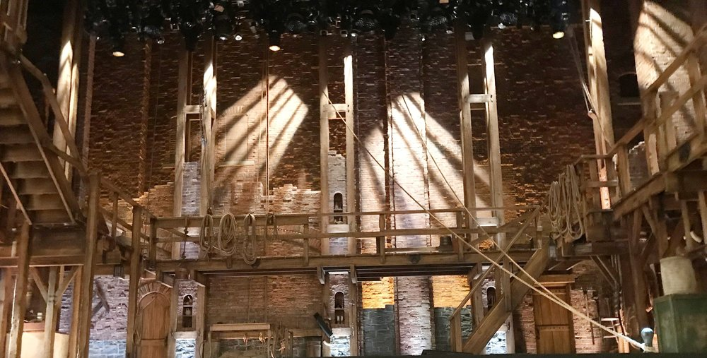 Set of Hamilton in at the PrivateBank Theater in Chicago