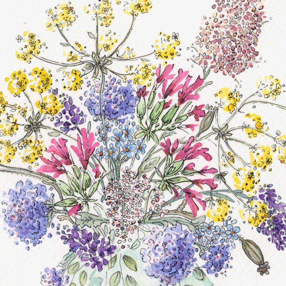 Wild Flowers in Vase 1