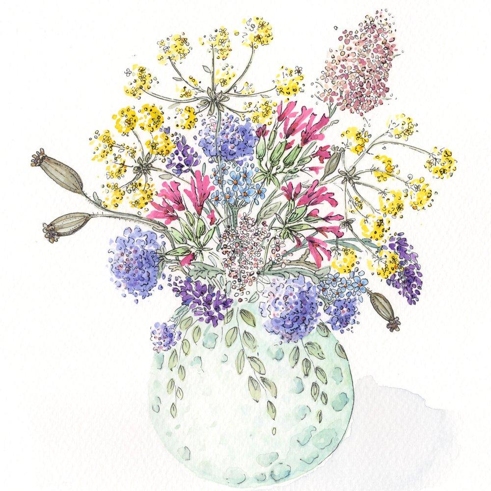 Wild Flowers in Vase