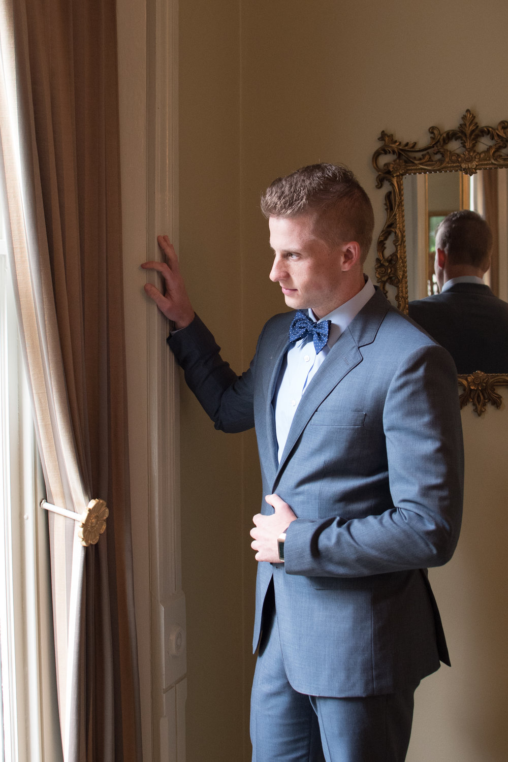 Ceresville Mansion wedding, groom picture