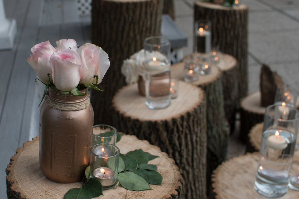 logs for decoration, frederick MD wedding