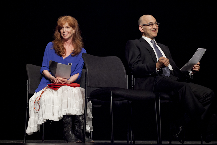Wheel Man. BPL Gala, 2013 With Amy Van Nostrand and Ned Eisenberg. Directed by Tony Shalhoub. Photo: Christina Rahr Lane.