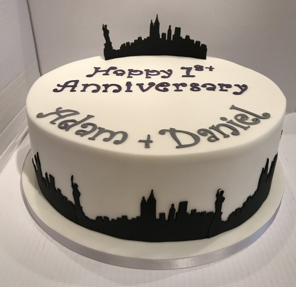 1st Year Anniversary cake for Adam and Dan, from Caldicott.