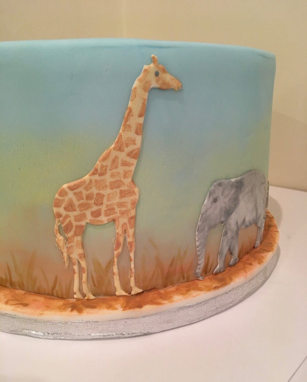Painter African safari cake