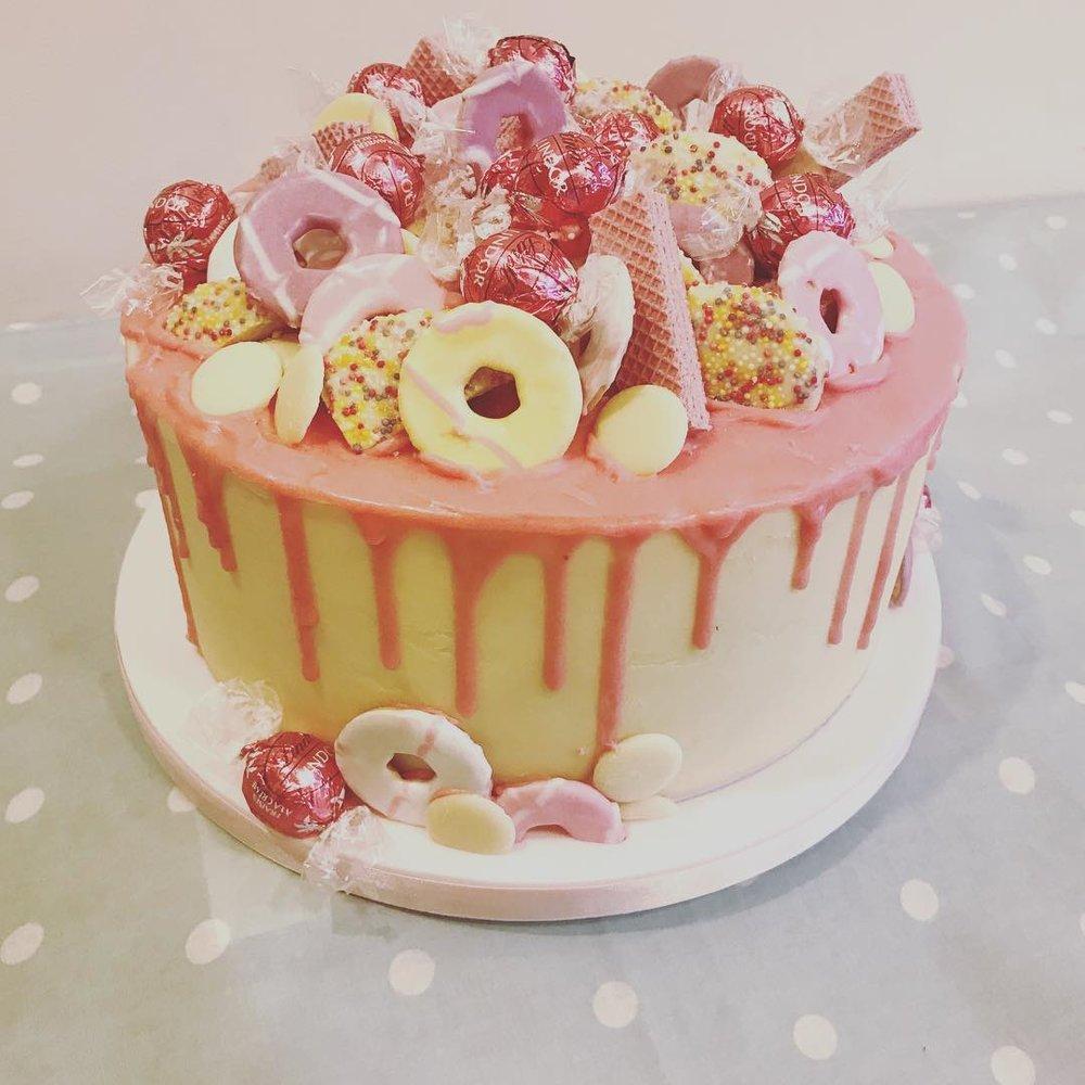 Chepstow Hen party, ganache drip cake!