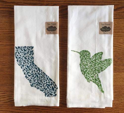California and Hummingbird Tea Towels