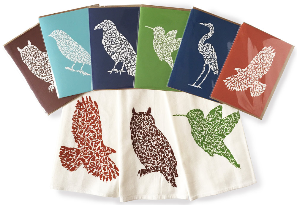 Bird Towels and Cards
