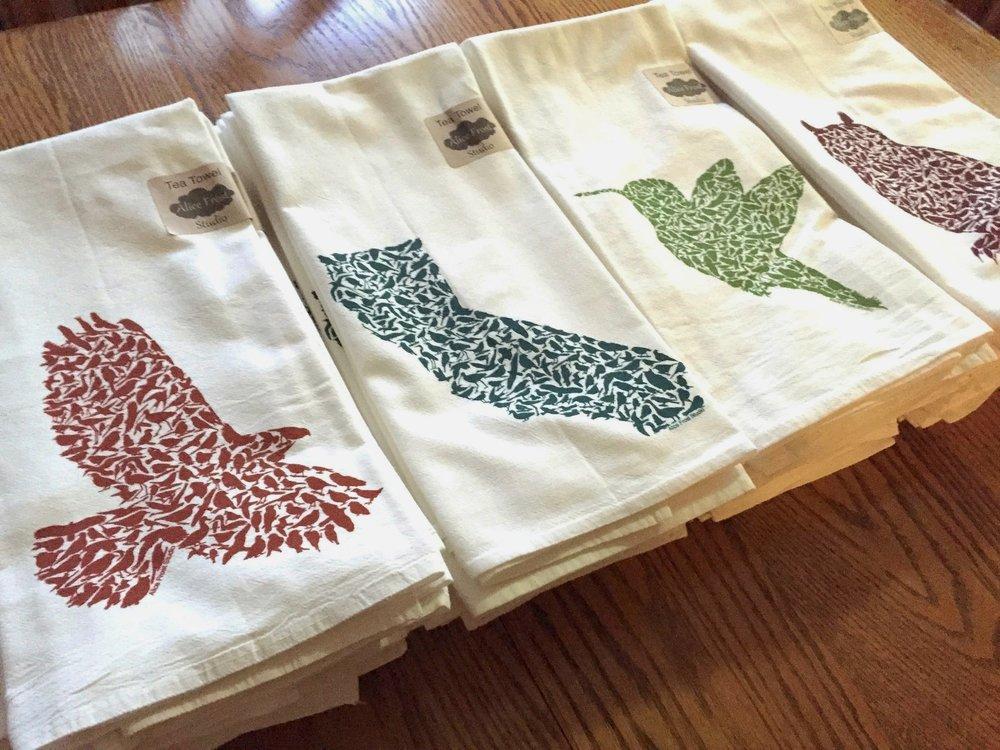California Bird Tea Towels