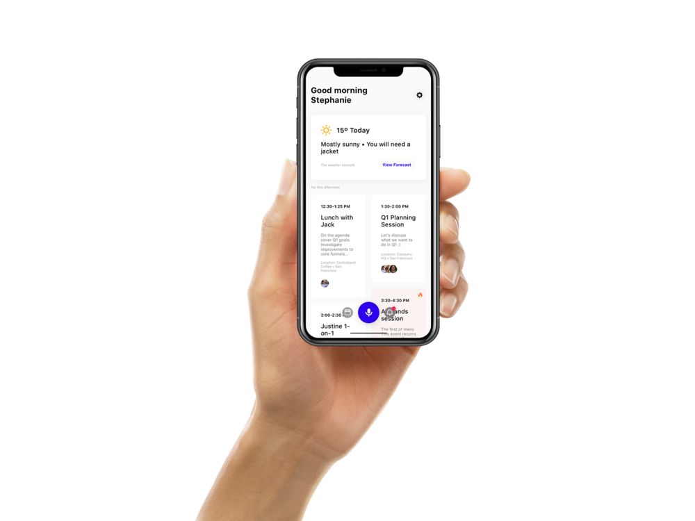 Voice-powered personal assistant