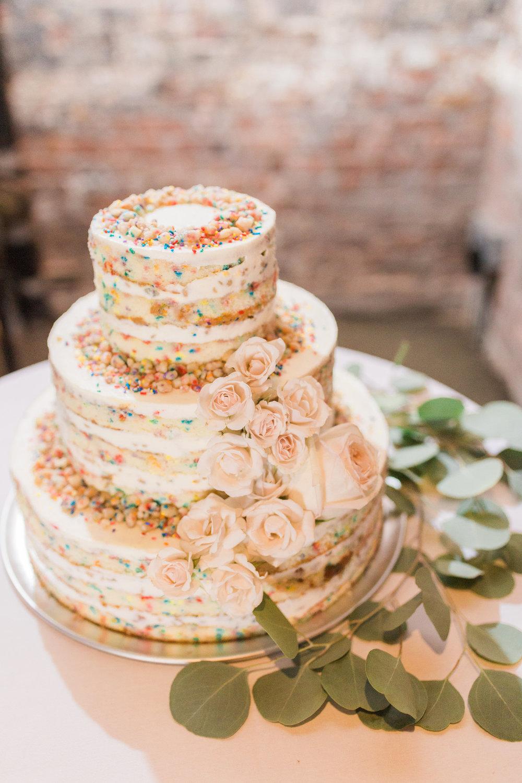 Dancing and Dessert Wedding cake