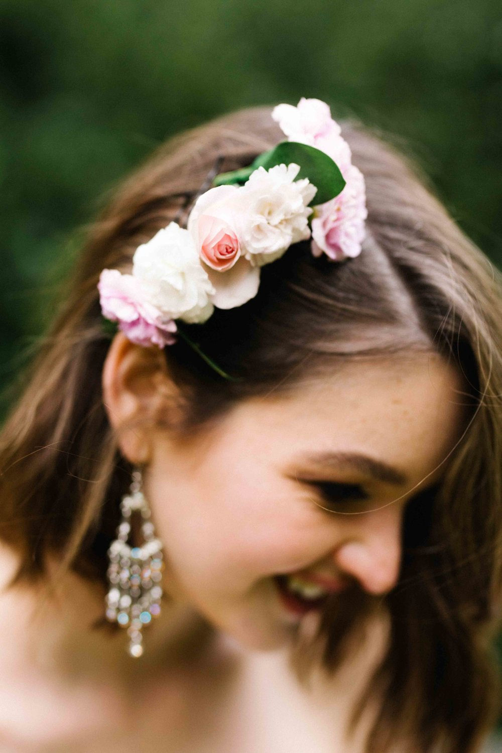 Dancing & Dessert Wedding Stylist Hair Flowers