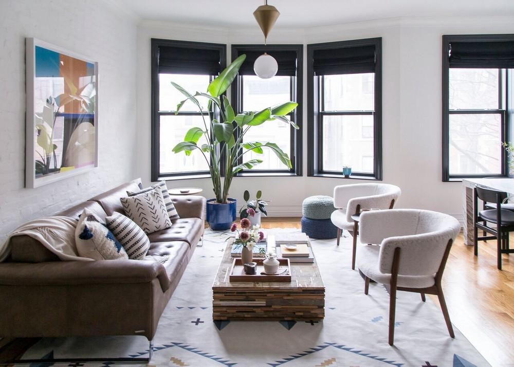 Sofa,  Roche Bobois  | Pillows,  The Citizenry  &  Minzuu  PHOTOGRAPHY BY  WHITE ARROW DESIGN