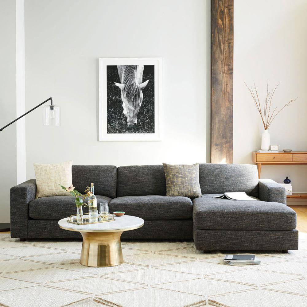 WEST ELM Urban 2-Piece Chaise Sectional $3,497