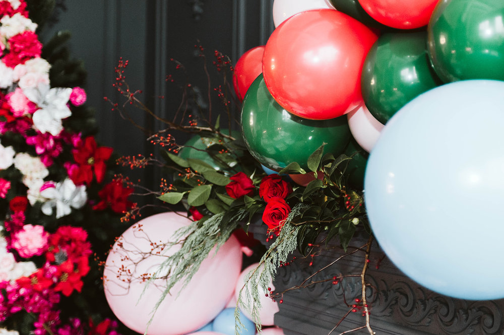 Christmas Bridal Shower Balloons