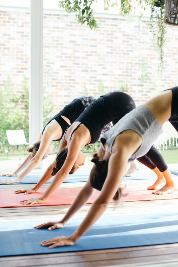 Wedding morning yoga