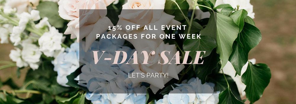 Dancing & Dessert Wedding Planning and Design Sale 2019