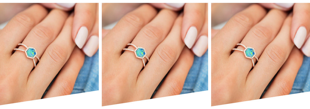 Non diamond and birthstone engagement rings