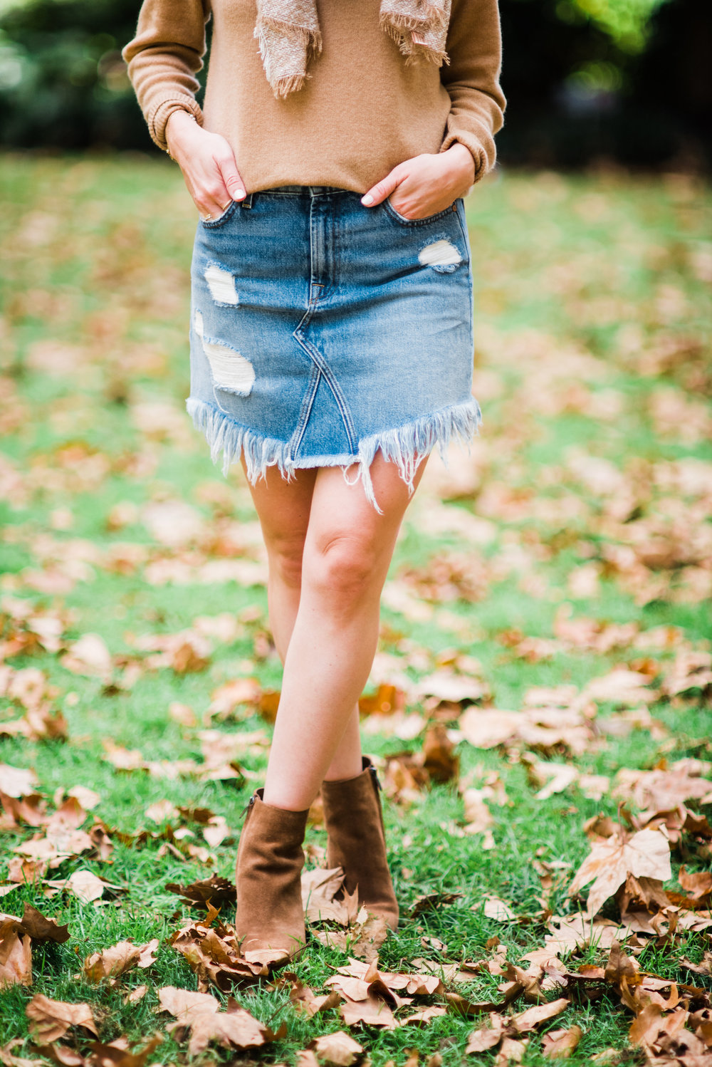 Jean Skirt and Boots