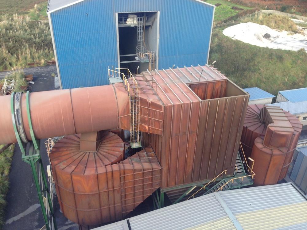 Montaje radiclón filtro en Ferroatlántica