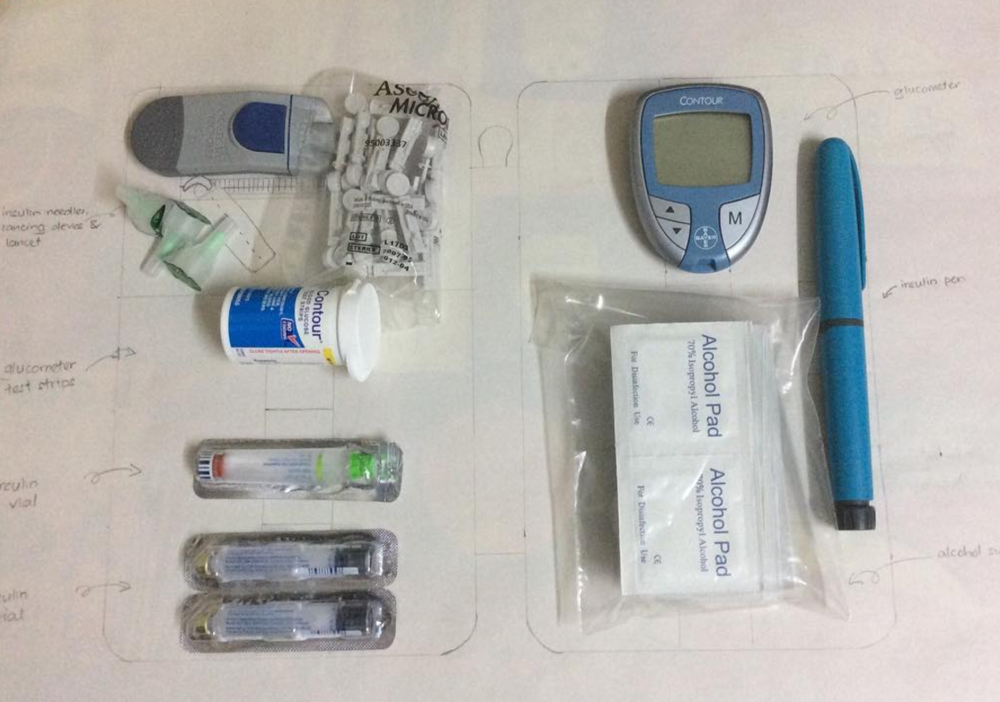 """I have drawn the estimated layout of the  #techdoppkit  to see what fits in it. I am pretty sure a diabetic patient would find the Tech Dopp Kit 2 in regular size very useful."""