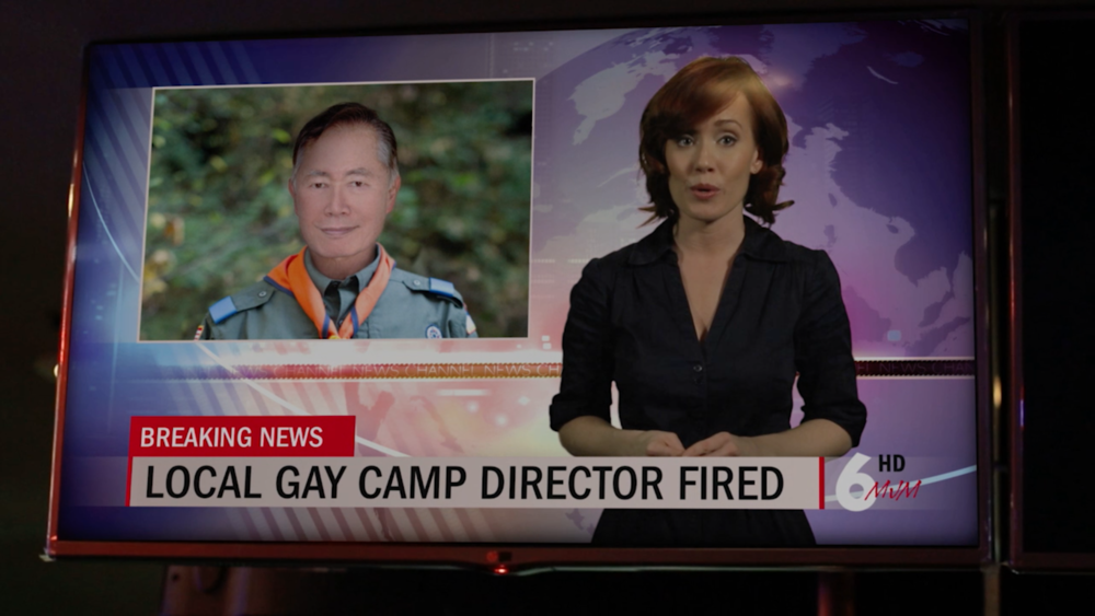 George Takei as gay Camp Director