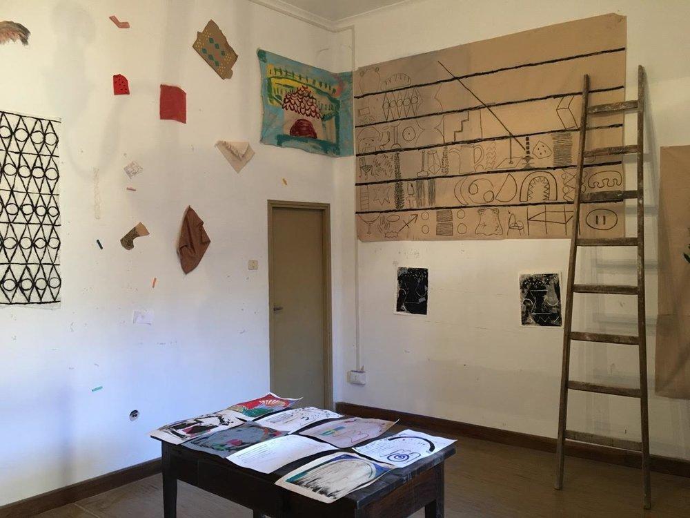 2017 installation at the International Centre for the Arts in Monte Castello di Vibio