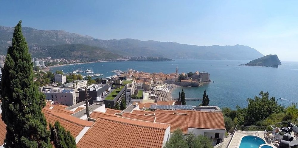 The View on the city of Budva
