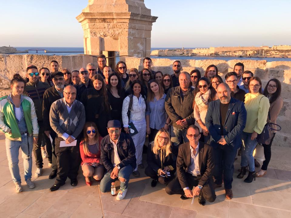 Bloggers and photographers on a beautiful location in Malta