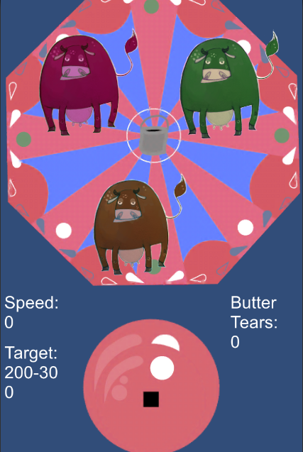 Screenshot of And Lo, They Shall Cry Butter, at Global Game Jam 2016