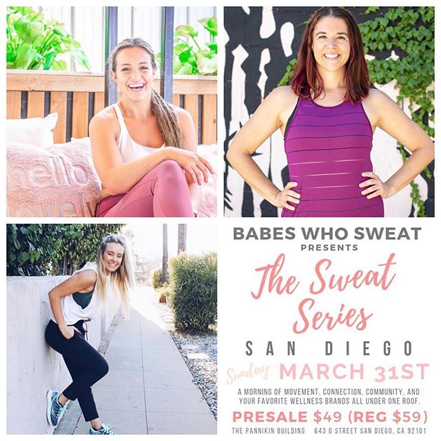 So excited that Relevate will be a part of the next @babeswhosweat event on Sunday, March 31st! Join us for a morning of movement, connection, community, and your favorite wellness brands all under one roof! Relevate will be a part of Sweat Session 1 (8-11am), and the session will start off with a 90 min workout led by: ⠀⠀⠀⠀⠀⠀⠀⠀⠀ @keara.christine (Warmup/HIIT) @shannon.werner (Barre/Pilates) @kayleigh.christina (Yoga/Meditation) ⠀⠀⠀⠀⠀⠀⠀⠀⠀ After class, we'll head downstairs at @thepannikinbuilding for a wellness-based happy hour for you to meet and mingle with our amazing vendors and each other! ⠀⠀⠀⠀⠀⠀⠀⠀⠀ All attendees will receive a carefully curated SWEAT BAG full of up + coming wellness products, as well as some of our tried + true favorites! Tickets are almost sold out, so head up to the #linkinbio and grab your ticket now! Hope to shake it with you there. . . . . . . #relevate #babeswhosweat #sdevents #sandiego #sandiegoliving #sandiegoevents #sandiegoyoga #sandiegobarre #sandiegopilates #sweatseries #sweatlife #community #communityovercompetition #womensupportingwomen #togetherwerise #womanpower #powerofshe
