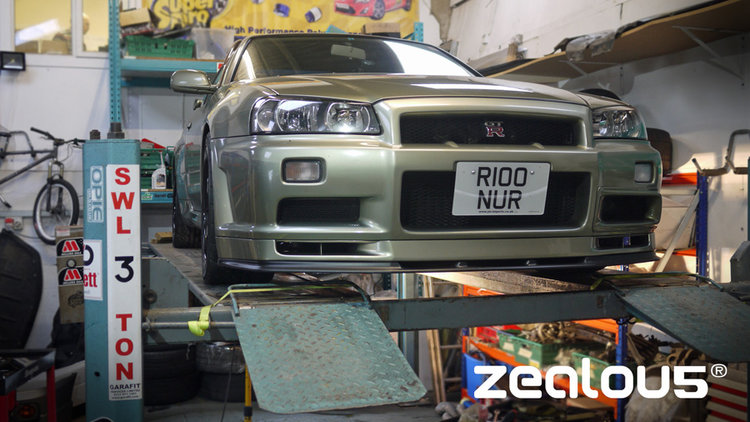 """Shrek"", R34 GTR R-TUNE underside resto/protection."