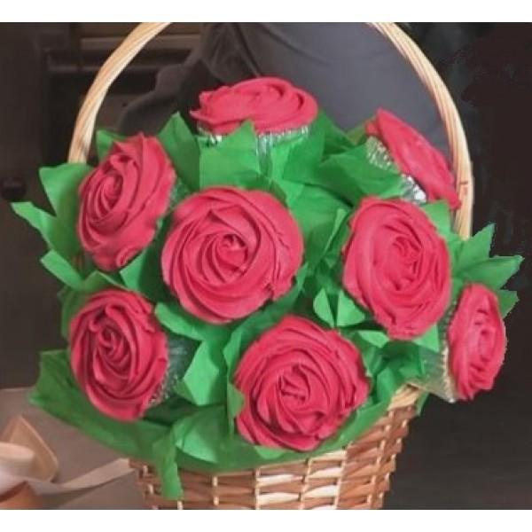 Red Cupcake Bouquet — Nanette\'s Kitchen