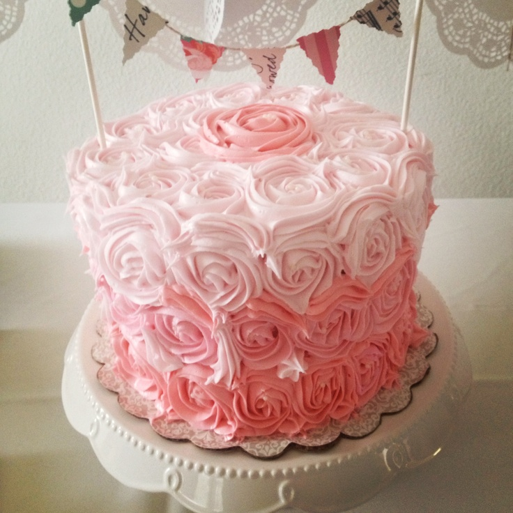 Ombre Rosette Cake 6 Inch Triple Layer Nanette S Kitchen