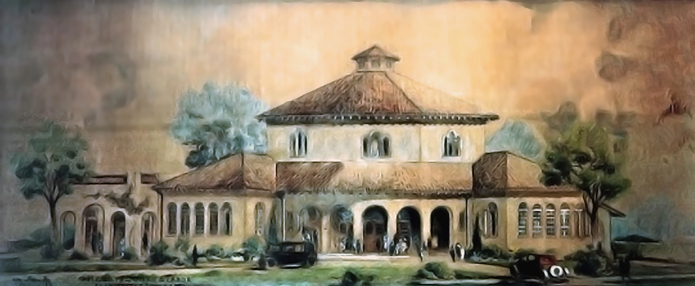 A original architectural rendering of the Parador.