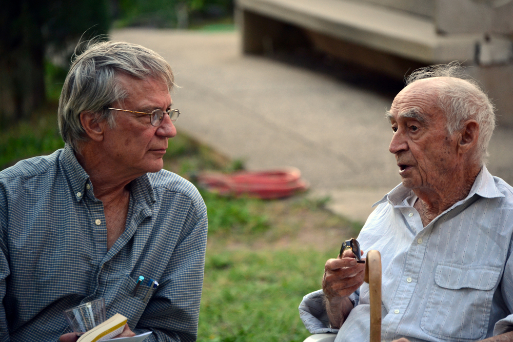 Richard Register (left) with Paolo Soleri © Cosanti Foundation